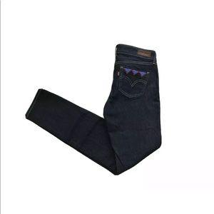 Levi's Sample Beaded Slim Skinny Jeans
